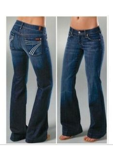 7 For All Mankind Dojo Flare Leg Jeans 28 X 30
